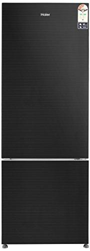 Haier 345 L 3 Star Frost Free Double Door Refrigerator(HRB-3654PKG, Black, Bottom Freezer)