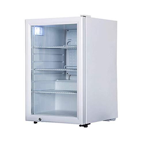 LJJOO Bebida Refrigerador y refrigerador Mini Nevera con Puerta de Vidrio Operación silenciosa Compresor con estantes extraíbles Ajustables Cerveza, Vino, refresco y Bebida Frigoríficos Mini