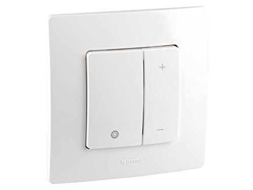 legrand 048871E Pulsador Regulador de Luz para Empotrar, 250 V, Blanco