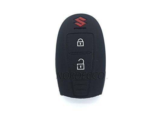 Protex Coque de protection en silicone sans clé 2 boutons pour Suzuki SwIFT Sport Cross Vitara SX4 Noir