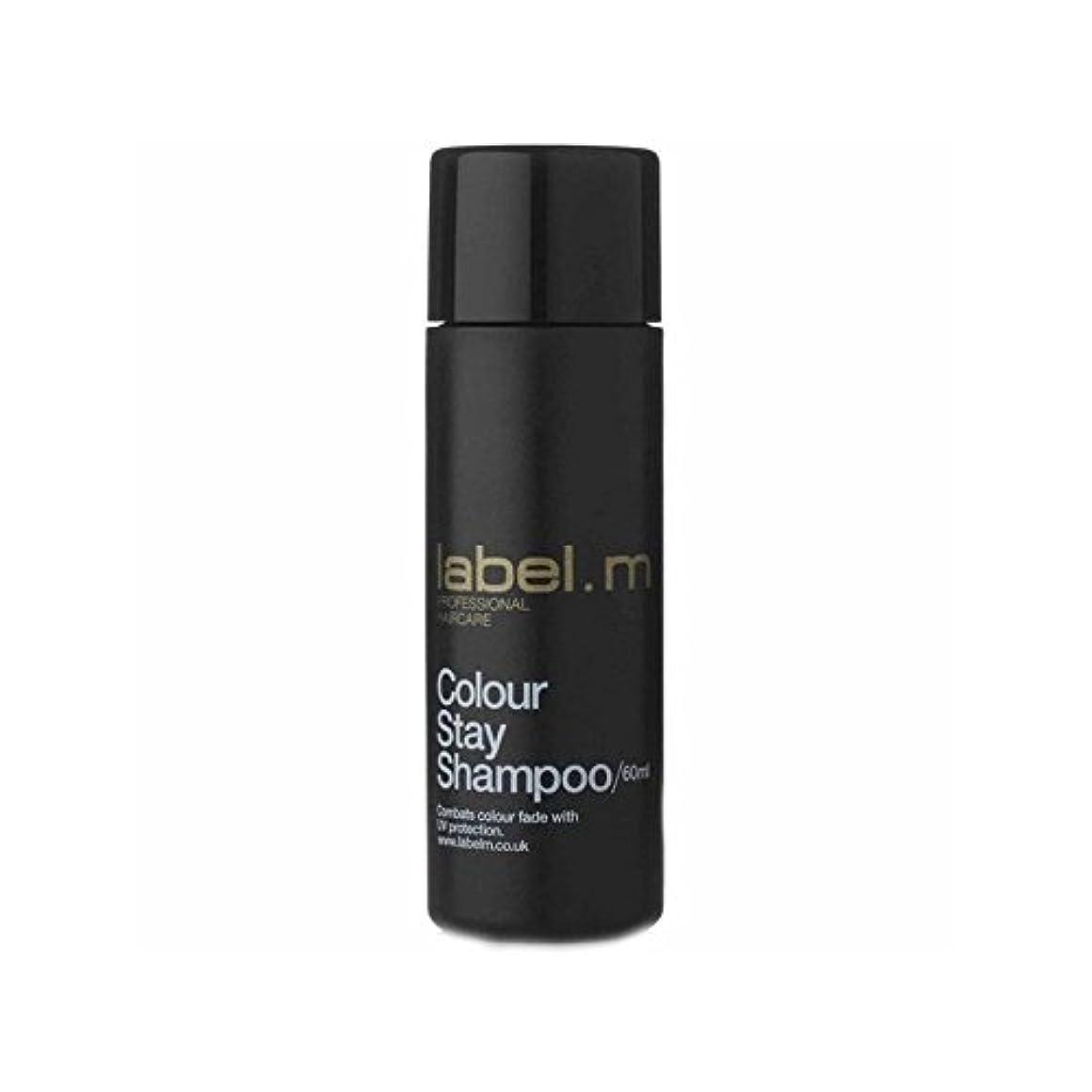 虐待嘆願なす.カラーステイシャンプーの旅行サイズ(60ミリリットル) x2 - Label.M Colour Stay Shampoo Travel Size (60ml) (Pack of 2) [並行輸入品]