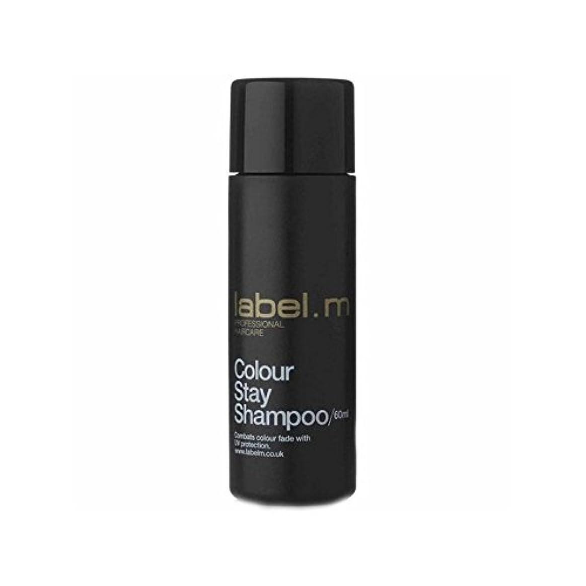 建てる修士号吐く.カラーステイシャンプーの旅行サイズ(60ミリリットル) x2 - Label.M Colour Stay Shampoo Travel Size (60ml) (Pack of 2) [並行輸入品]