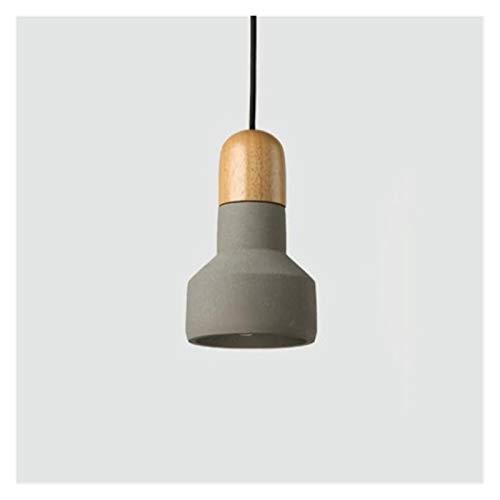 Accesorio de iluminación Comedor sala de estar dormitorio moderno y simple retro araña industrial, cemento creativo cabeza simple E27 Edison Pequeño Droplight Techo Lámpara decorativa ( Color : GRAY )