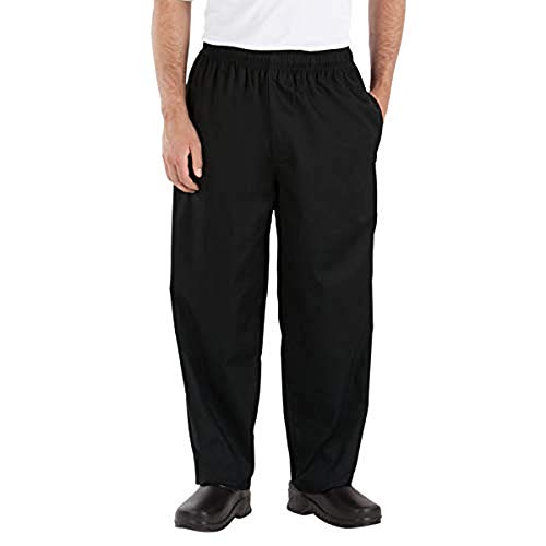 Happy Chef Poly Cotton Classic Baggy Pants, X-Large, Black