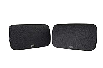 Polk Audio SR1 Wireless Rear Surround Speakers for MagniFi Max Sound Bar System | Easy Connectivity and Versatile Use | Upgrade to 5.1 Channels Sound | Pair Black
