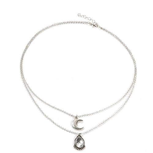 Collar Collares Pendientes De Cristal De Bohemia para Mujer Luna Nueva Gotas De Agua Collar Collier Declaración Joyería Envío De La Gota