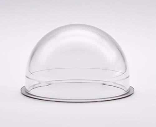 JMX - Carcasa para cámara domo de seguridad (policarbonato, interior y exterior de 3,8 pulgadas), color transparente
