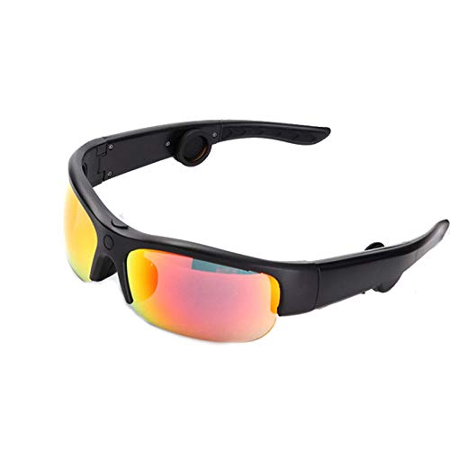 Mitad Marcos - Audio Gafas de Sol con Abierto Oído Auriculares, Inteligente Gafas de Sol por Hombres Mujeres Ciclismo Vasos Uv400 Ligero en Ciclismo, Pesca, Corriendo, Conduciendo, Golf,C