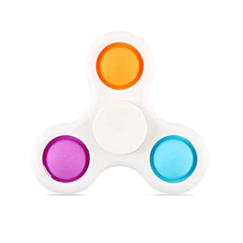 Fuguan Push Pop Bubble Sensory Toys Set Anti Stress Hand Toys ABS and TPU Rubber Fidget Stress Relief Toy Gifts  Random