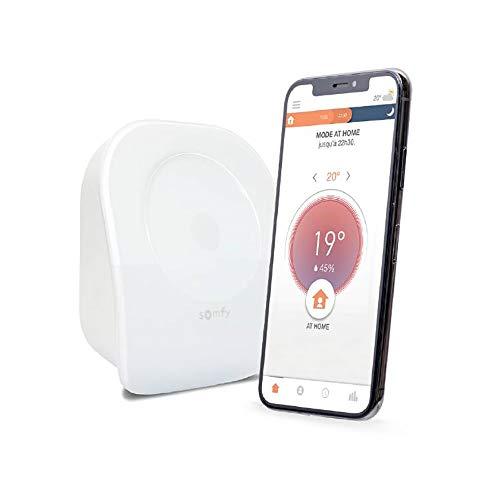 Somfy 1870775 – Thermostat vernetzt Radio V2 | Kabellos | für Heizung oder Kessel | Trockenkontakt | kompatibel mit Amazon Alexa, Google Assistant & Tahoma