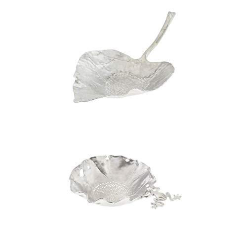 LOVIVER 2 Pièces Infuseur à Thé, Filtre à Thé, Passe-Thé en Étain Ustensiles de Cuisine pour Thé Diffuse Rapidement - Feuille d'Érable + Grenouille