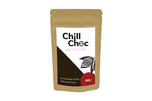 ChillChoc Anti-Stress-Kakao | Chili | 100g | vegan | warm & kalt genießen | für Müsli & Backen | Entspannung | Top Geschenk