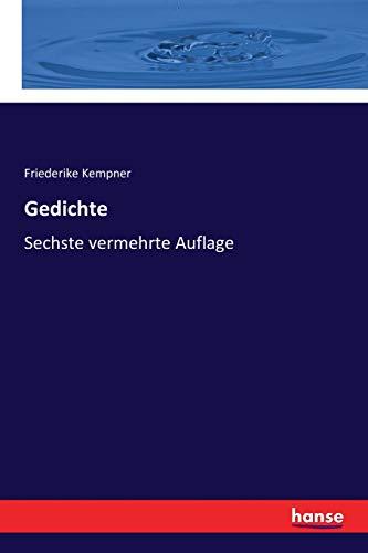 Gedichte: Sechste vermehrte Auflage