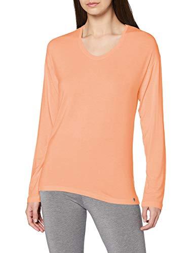 Schiesser Damen Mix & Relax Shirt 1/1 Arm Schlafanzugoberteil, pfirsich, 38