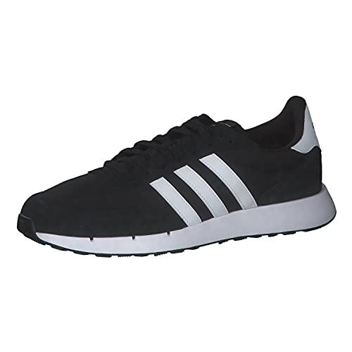 adidas Run 60S 2.0, Road Running Shoe Hombre, Core Black/Cloud White/Core Black, 44 EU