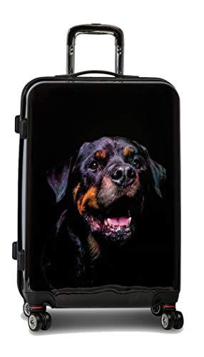 Reise Koffer Trolley Bowatex Hund Rottweiler L Mittel 67 cm 4 Rollen Hartschale