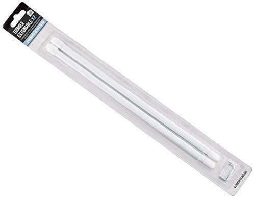 Je Cherche une Idee di8620Barra extensible plástico blanco 2x 30cm