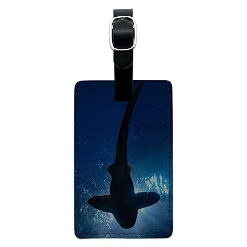 Graphics & More Shark-Scuba - Custodia in pelle per valigie, colore: Nero