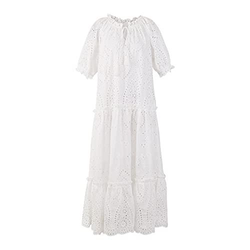 chushi Vestidos de Mujer Vestido De Vestido De Encaje De Ojal De...