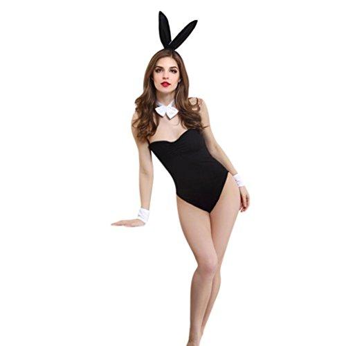 BYSTE Coniglietta Cosplay Lingerie Biancheria Intima Pigiama Costume da Lingerie Babydoll Bunny Girl Sexy Tentazione Abito da Marinaio Body Tutina Club Wear Costume