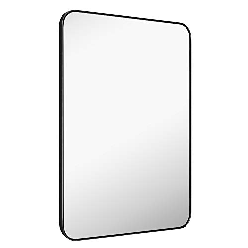 MIRROR TREND Large Metal Framed Wall Mirror for Bathroom Living Room Bedroom -
