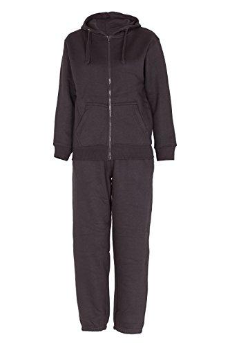 NOROZE Kids Boys Girls Plain Tracksuit Hooded Jogging Suit Black 9 10 Years