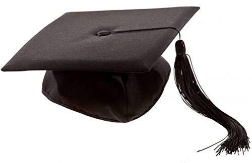 Karabu Cappello da Laureato Tocco Dottore Travestimento Laurea Accademia Diploma