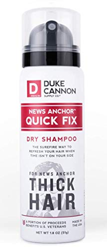 Duke Cannon Supply Co. - News Anchor Quick Fix Dry Shampoo, Unscented (1.8 oz) Quickly Refresh your Hair With this Mens Dry Travel Shampoo Spray