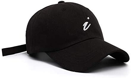 H/A Simple Fashion The Same Paragraph Letters Embroidered Baseball hat Korean Boys and Girls Outdoor Sun Cap SADUK (Color : Black White, Size : Adjustable)