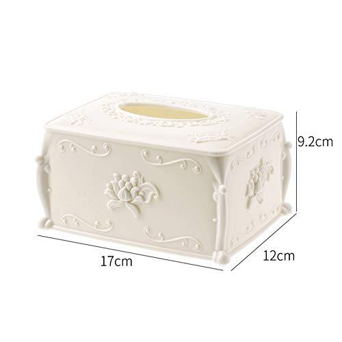 Creatieve Europese woonkamer thuis eenvoudige tissuedoos, kartonnen doos, papieren servetten salontafel desktop Nordic opbergdoos,Beige