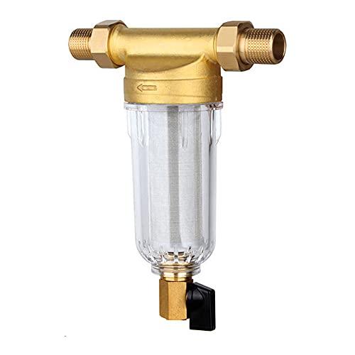 MZNTBW Filtro de Agua para Sedimentos Reutilizable para Toda La Casa el Agua del Grifo Pre-Filtro con ManóMetro Cartucho de Riego Bomba SifóN Lavado a Contracorriente LíNea Malla Gran Flujo