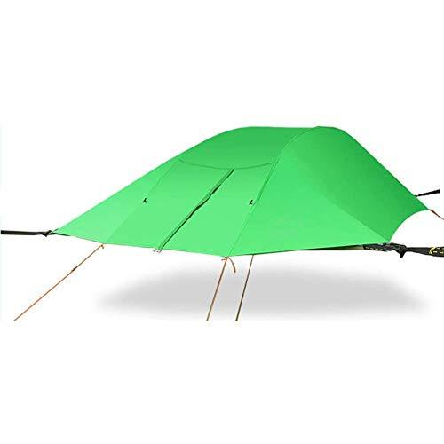 Baumzelt, Antennen-Hängematte, Bodenzelt für 2-3 Personen, Familien-Campingzelt, 300× 300× 100cm, wasserdicht (Dreieckzelt)