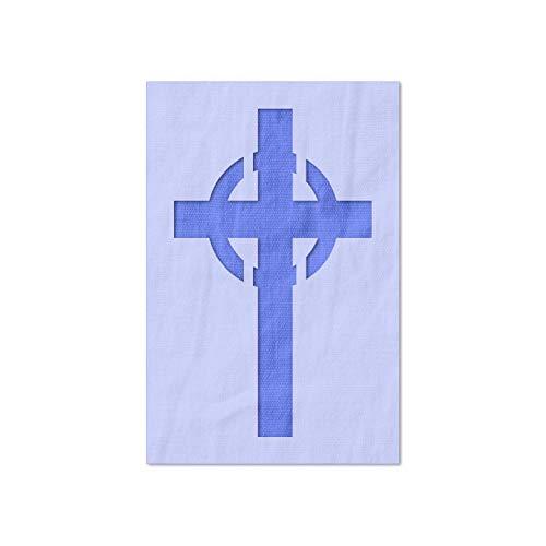 Stencil Stop Celtic Cross Stencil - 14 Mil Mylar Plastic (5.44 x 9 inches)