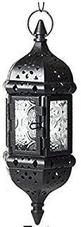 1PC Vintage Metal Hollow Hanging Candle Holder Wedding Candle Lanterns Moroccan Hanging Candle Lanterns Candlestick Black ...