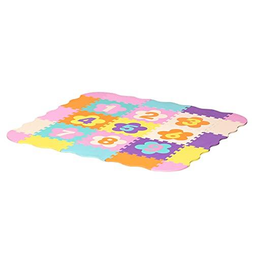 homcom Tappeto Puzzle per Bambini da 25 Pezzi Area Coperta 0.9㎡, Assemblaggio Piatto e 3D a Recinto, Multicolore