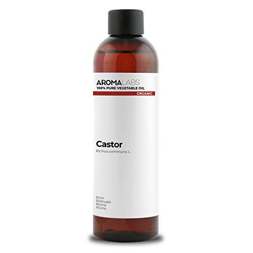 BIO - Aceite vegetale de Ricino - 250ml - garantizado 100% puro, natural y prensado en frío - Orgánico certificado por Ecocert - Aroma Labs