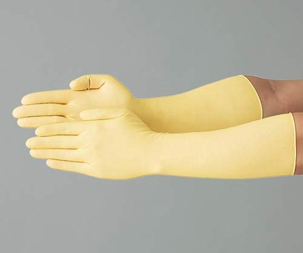 粘着性手荷物ダーリンアズワン ラテックススーパーロング手袋L/61-0078-03