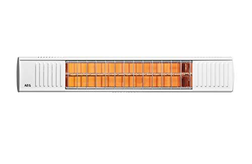 AEG Terrassen-Heizstrahler IR Premium 2000 H W, 2 kW, hochheffiziente Qualitäts-Goldröhre, weiß, 234788