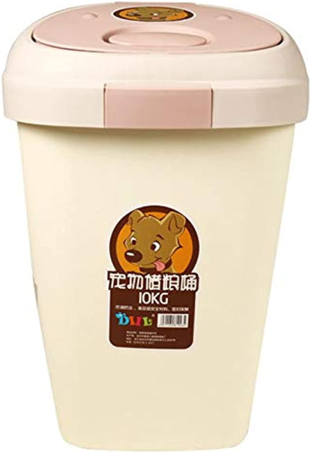 Food Storage Container Pet Dog Food Storage Container with Buckle Sealed Food Storage Box (Size   Pinkl)