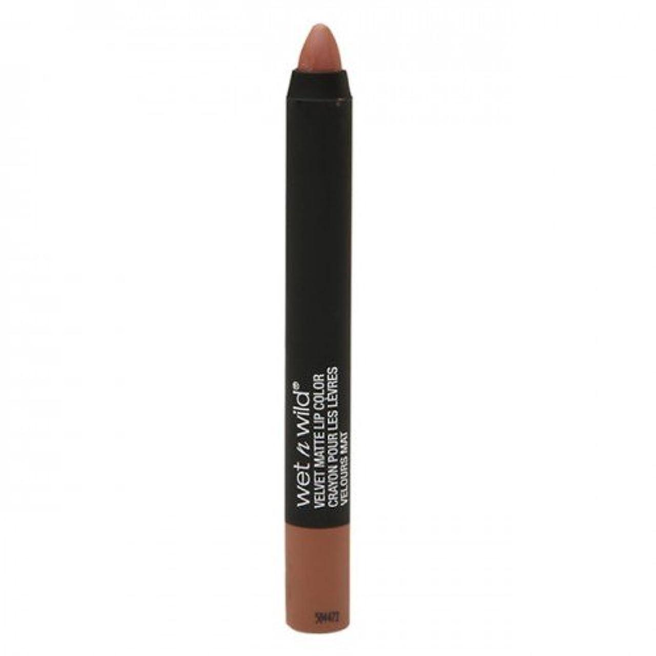 ハドル刃忠実な(6 Pack) WET N WILD Velvet Matte Lip Color - Toffee Frappe (並行輸入品)