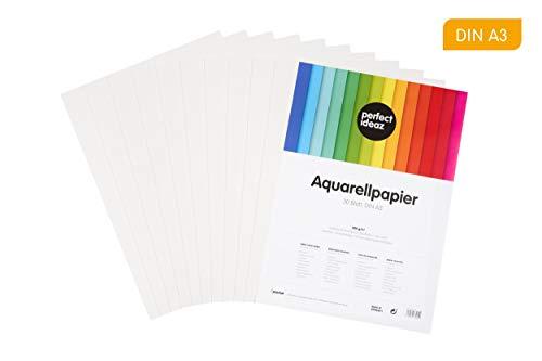 perfect ideaz DIN A3 Aquarell-Papier 300g