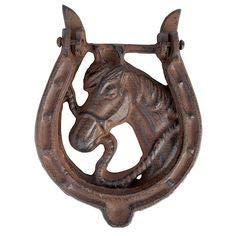 horse cast iron doorknocker - 5