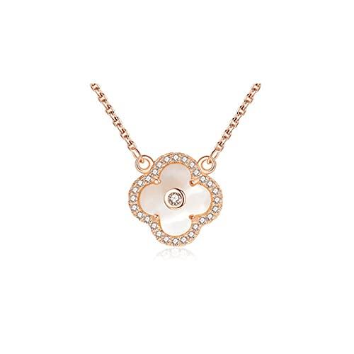 zxb-shop Collar Collares de Lujo para Mujeres, circonia cúbica sintética, Alrededor del fritillar, corazón de tutela, Collar Exquisito Collar Mujer