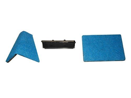 Haquoss Multi Cleaner 3 en 1 kit 3 en 1 avec Lame et Deux éponges de Rechange