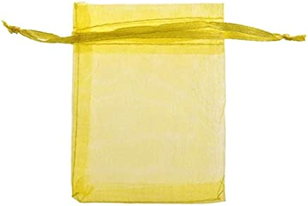 BEESCLOVER 20Pcs/Lot Wholesale Lovely Colorful Organza Bag Wedding Party Pouch Gift Candy Bags Packing Bags Wedding Accessories Yellow One Size