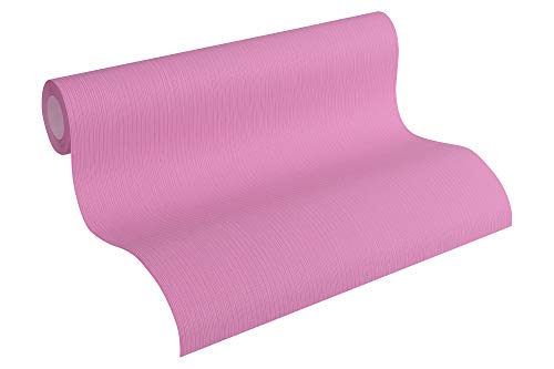 A.S. Création Vliestapete Happy Spring Tapete Uni 10,05 m x 0,53 m lila Made in Germany 344579 34457-9