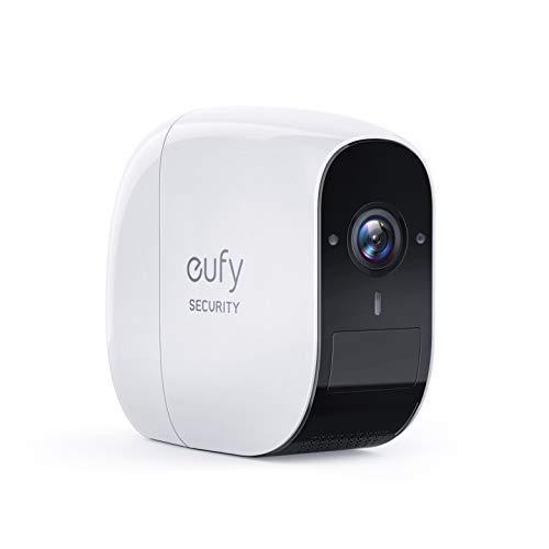 eufy Security, eufyCam E Kabellose Überwachungskamera, 1 Jahr Akkulaufzeit, 1080p,100dB Diebstahlalarm, 16GB microSD-Speicherkarte, doppelseitige Kommunikation, IP65 Wetterfest
