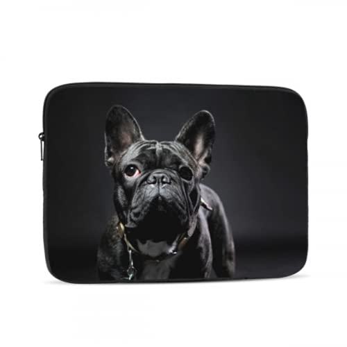 Girls Laptop Case French Bulldog Sitting In A Studio 726297634 Laptop Protective Bag Computer Tablet Briefcase Carrying Bag For Office Work School Outdoor 10/12/13/15/17 Inch Five Sizes