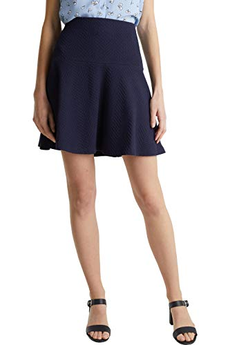 Esprit Damen 040EE1D316 Rock, 400/NAVY, M