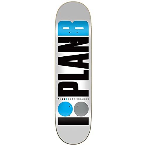 Plan B Team Blue 8.25'x32.125' Deck, Skateboard. Unisex-Adulto, Multicolore (Multicolore), 8,25' x 32,125'